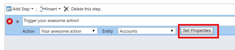 Dynamics 365 Add workflow step