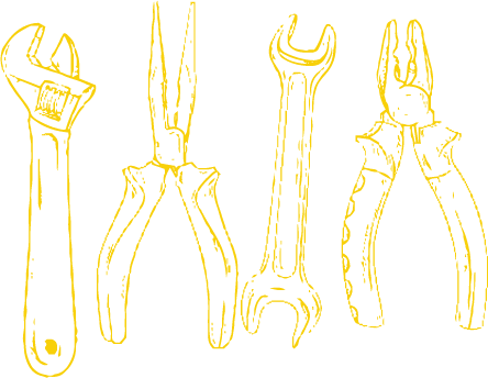 Line Drawing Tools Yellow